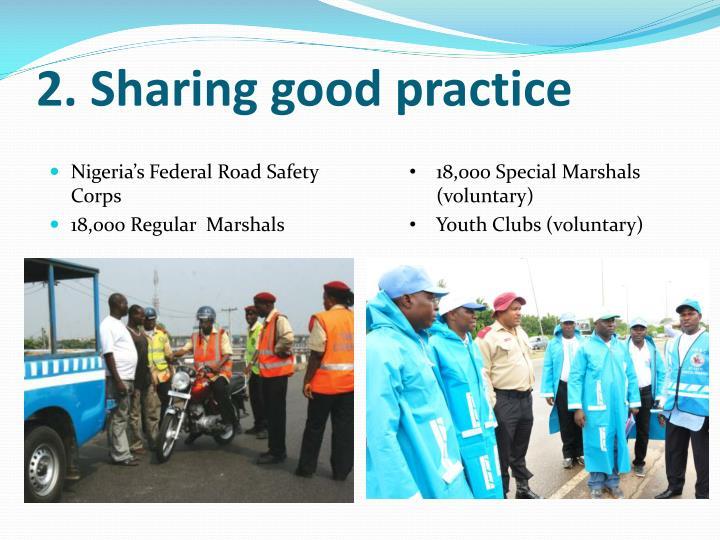 2. Sharing good practice