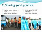 2 sharing good practice