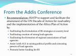 from the addis conference