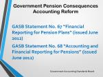 government pension consequences accounting reform
