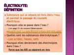 lectrolyte d finition
