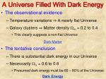 a universe filled with dark energy
