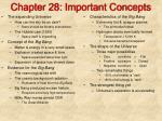 chapter 28 important concepts
