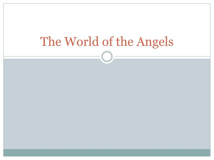the world of the angels n.