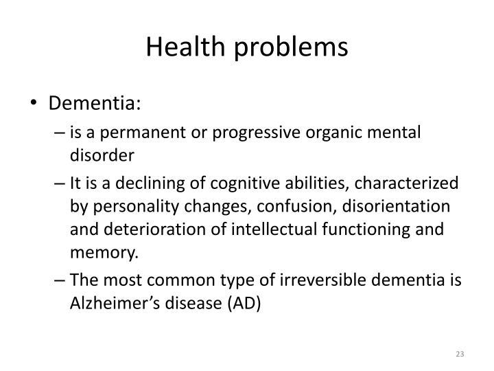 Health problems