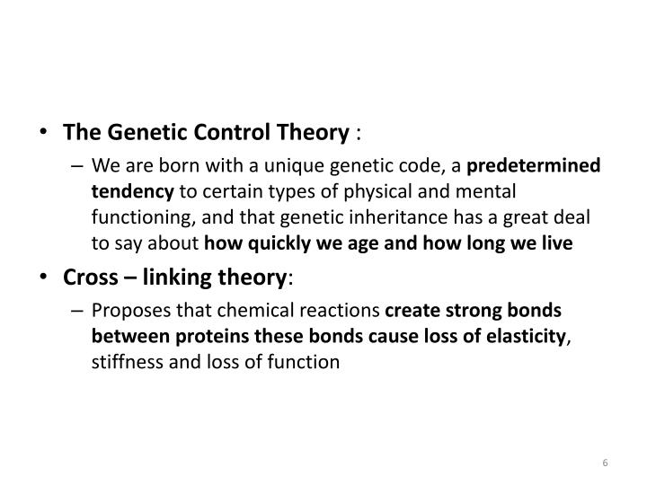 The Genetic Control Theory