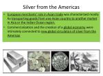 silver from the americas