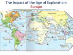 the impact of the age of exploration europe