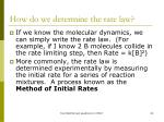 how do we determine the rate law1
