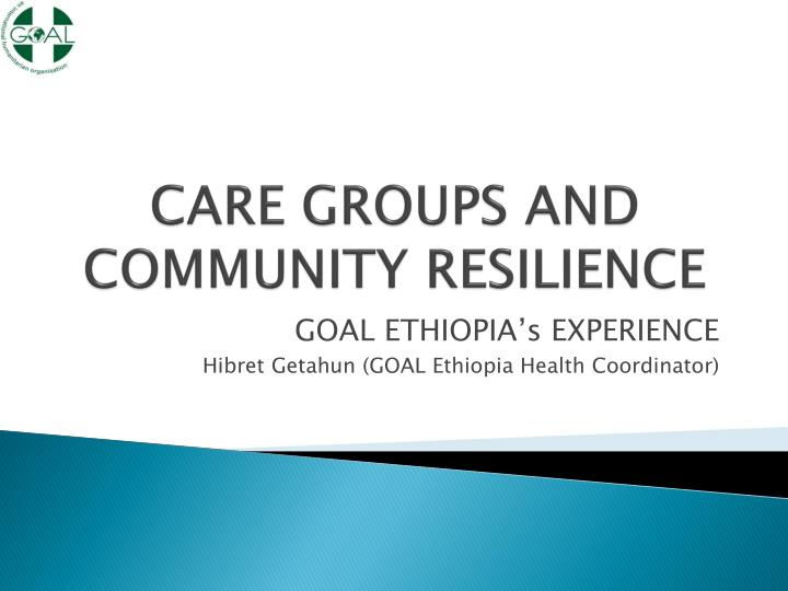 care groups and community resilience n.