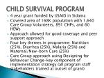 child survival program