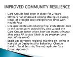 improved community resilience