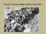 forces in knee deep mud in trenches