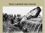 tank crashed into trench