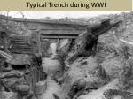 typical trench during wwi