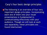 carp s four basic design principles