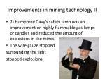 improvements in mining technology ii