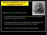 berlin conference 1884 85 scramble for africa
