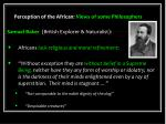 perception of the african views of some philosophers