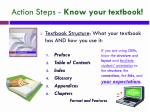 action steps know your textbook