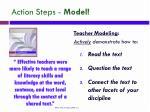 action steps model