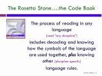 the rosetta stone the code book