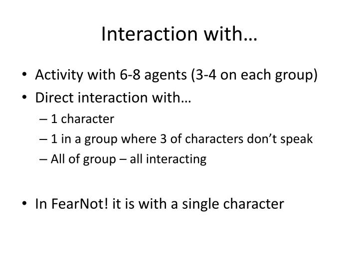 Interaction with…