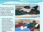 beneficiaries of paedatric orthopaedic surgeries