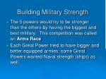 building military strength