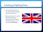 creating a fighting force1
