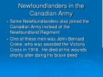 newfoundlanders in the canadian army