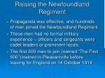 raising the newfoundland regiment