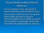 royal newfoundland naval reserve