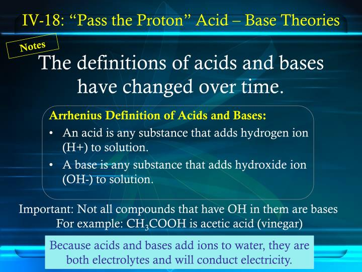 the definitions of acids and bases have changed over time n.