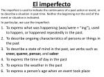 el imperfecto