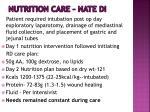nutrition care nate di