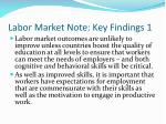 labor market note key findings 1