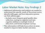 labor market note key findings 2