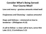 consider what s being served four course meal