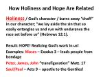 how holiness and hope are related