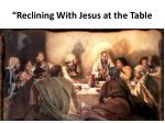 reclining with jesus at the table