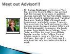 meet out advisor