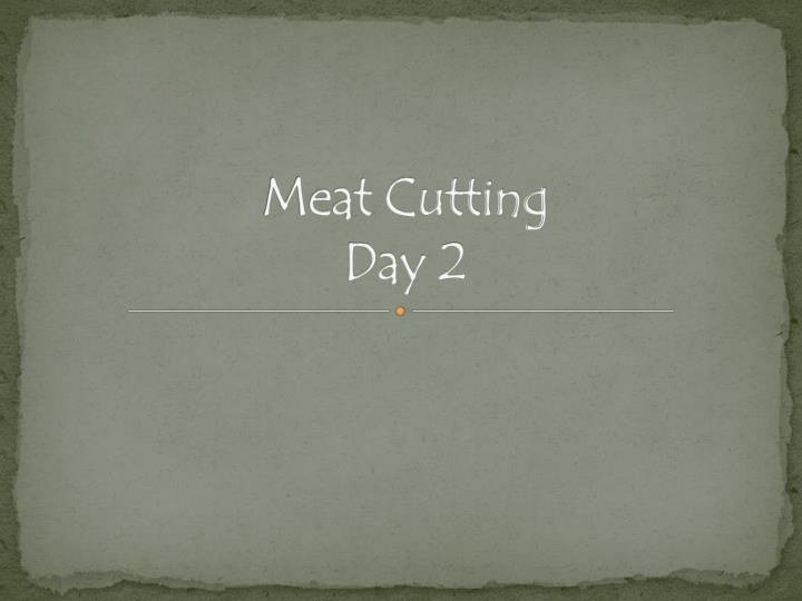 meat cutting day 2 n.