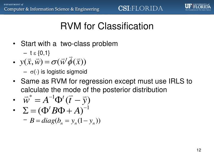 RVM for Classification