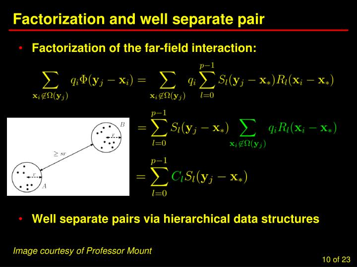 Factorization and well separate pair
