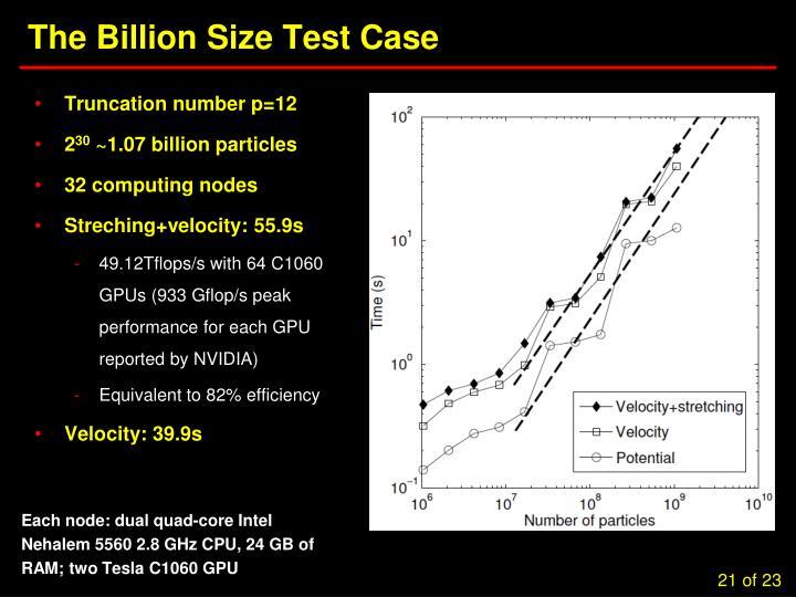 The Billion Size Test Case