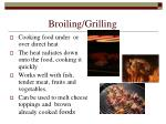 broiling grilling