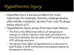 hypothermic injury