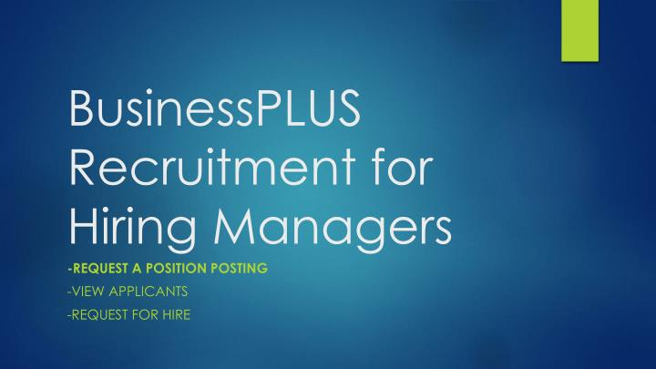 businessplus recruitment for hiring managers n.