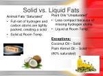 solid vs liquid fats